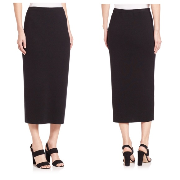 fc049969ca Eileen Fisher Dresses & Skirts - EILEEN FISHER Cotton/ Silk Black Midi  Pencil Skirt